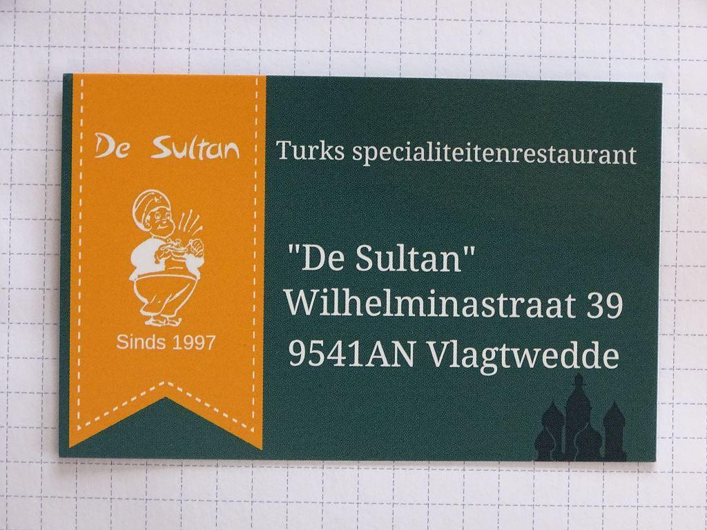 "Turks specialiteitenrestaurant ""De Sultan"""
